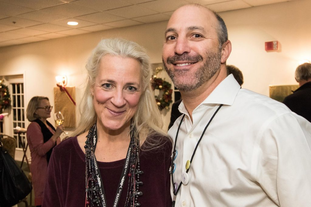 Friends of Casco Bay Executive Director Cathy Ramsdell and board member Barry Sheff at the donor appreciation event.