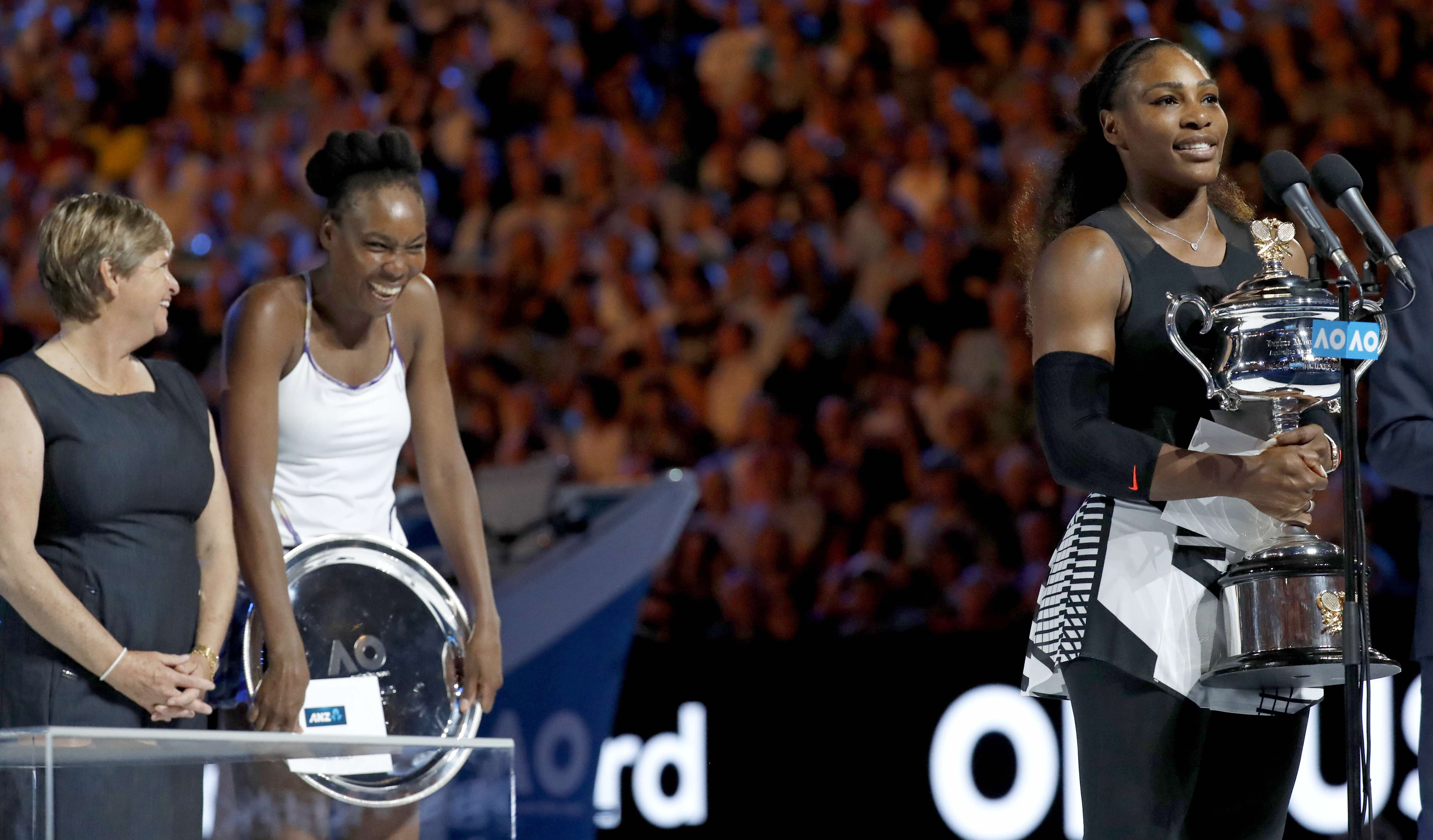 Serena Williams beats sister Venus to win the Australian Open