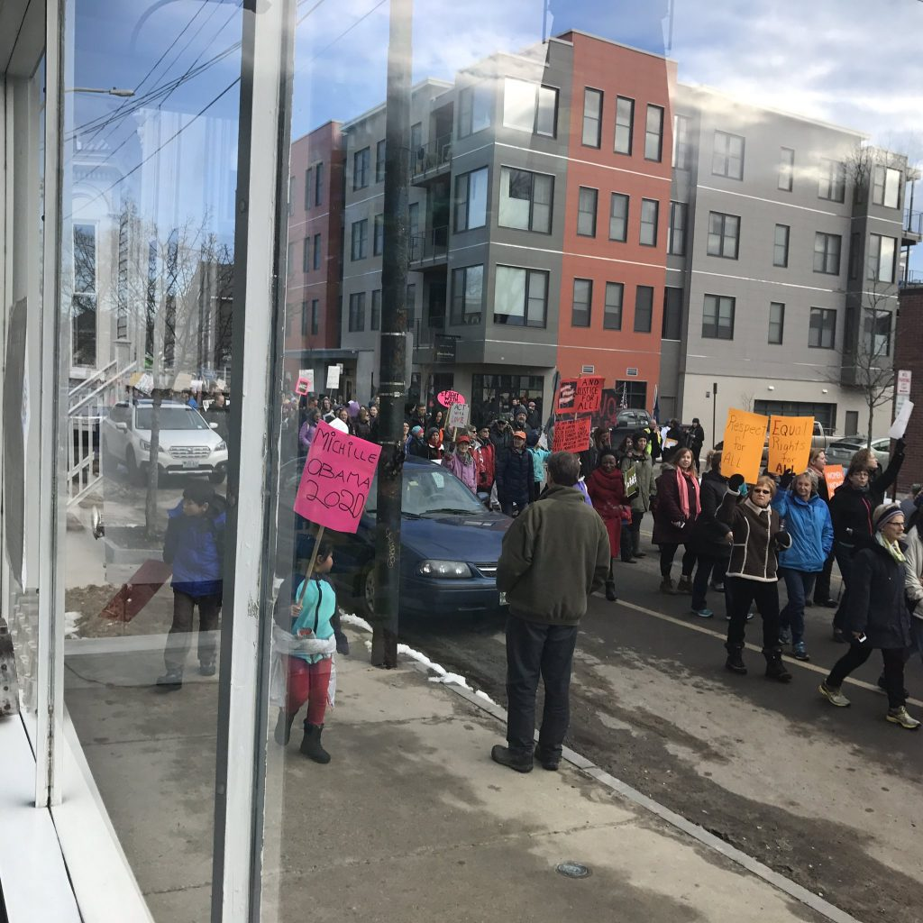 The marchers in the Portland Women's Walk represented a wide array of age groups.