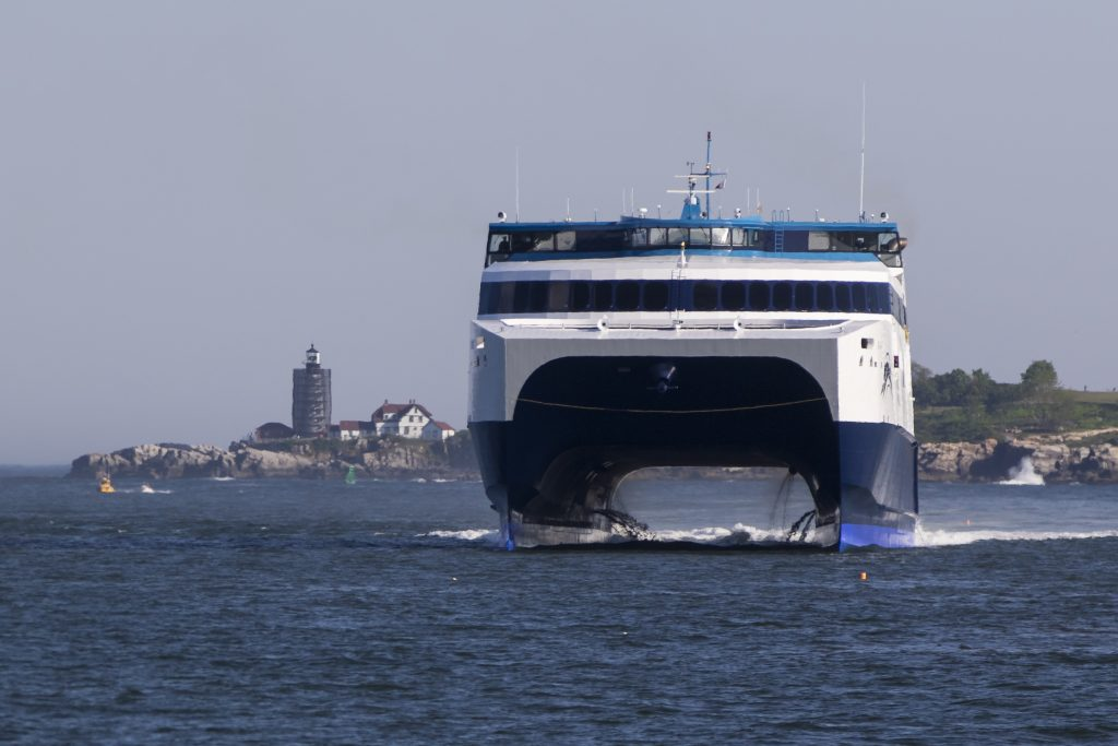 Bay Ferries Ltd., which operates The Cat, is challenging the rate increase for Portland Harbor pilots approved in May.