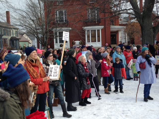 About 300 marchers gathered in Brunswick on Saturday.