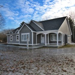 The home sits well back on its 0.93-acre lot.