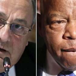 Gov. Paul LePage and U.S. Rep. John Lewis, who worked closely with the late Rev. Martin Luther King Jr. to fight Jim Crow laws that discriminated against blacks in the South.