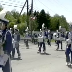 This image taken from a YouTube video shows the marching band from Madawaska Middle/High School. The band is to march as part of the inauguration of President-elect Donald Trump.