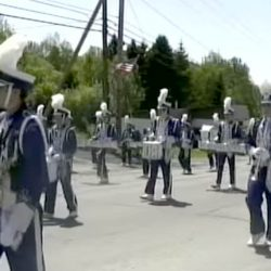 This image taken from a YouTube video shows the marching band from Madawaska Middle/High School. The band went to Washington to march in an event marking the inauguration of Donald Trump.