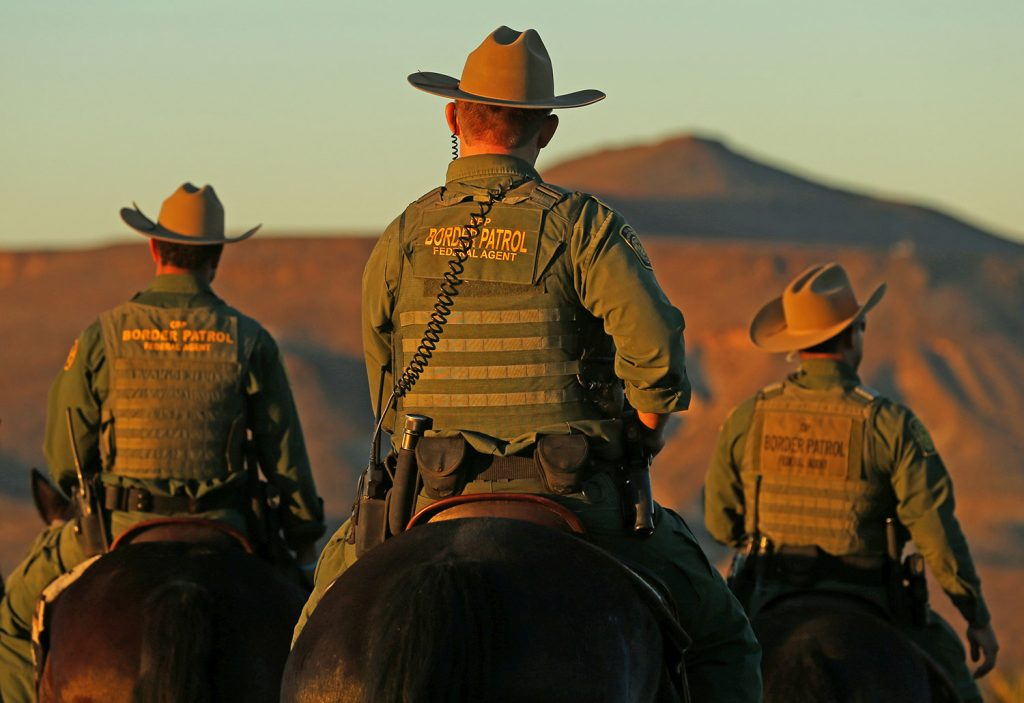 U.S. Border Patrol agents from Boulevard Station, whose nickname is the