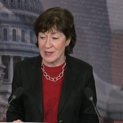 Sen. Collins speaks about her replacement  plan for the Affordable Care Act in Washington on Monday.