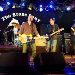 The B Street Band perform at a charity event at The Stone Pony in Asbury Park, New Jersery, on Jan. 8. The Stone Pony was a frequent venue for Bruce Springsteen and the E Street Band during the Boss's early days.