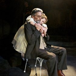 "Maiya Koloski as Iris and Paul Haley as Papa, in a scene from ""The Nether."""