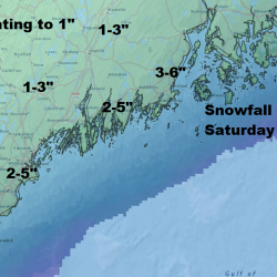 Areas along the coast will need to get out the plows this evening.