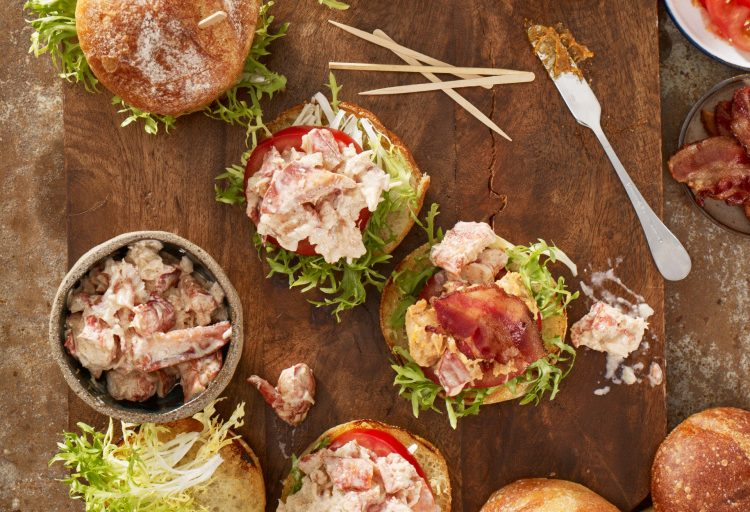 Bacon, Maine Lobster and Tomato Sliders