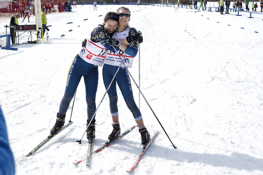 b7d532f0b8 WATERVILLE — Mt. Blue of Farmington and Maine Coast Waldorf of New  Gloucester ran away with Nordic skiing state championships Friday at Quarry  Road Trails.