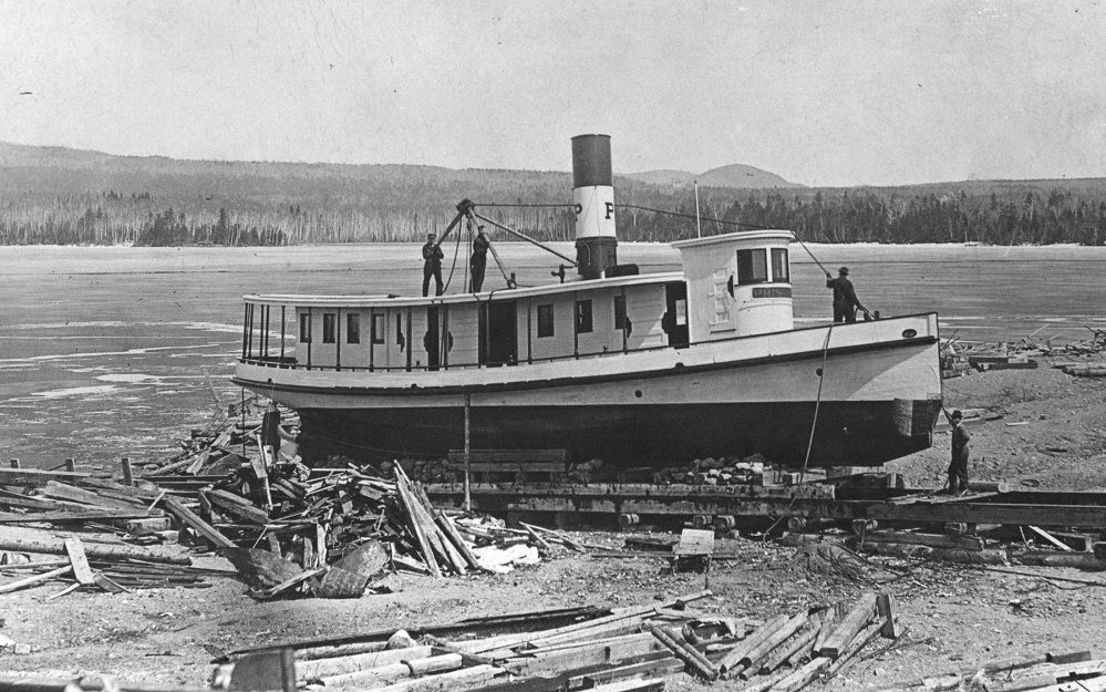 The Priscilla On Shipway At Steamboat Point Moosehead Lake Around Turn Of 20th Century Photo Courtesy Marine Museum
