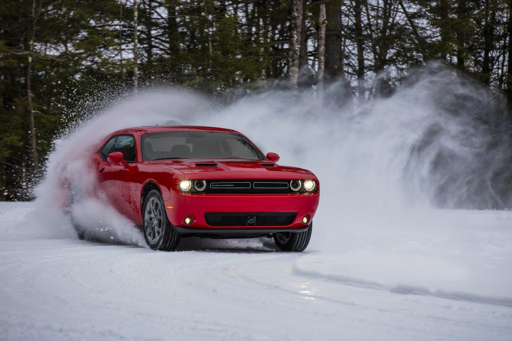 dodge challenger gt is at its best in the snow portland press herald. Black Bedroom Furniture Sets. Home Design Ideas