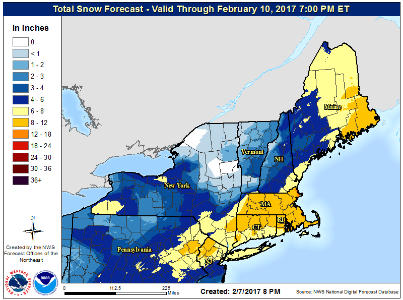 Powerful, fast-moving snowstorm creating hazardous travel conditions throughout Northeast