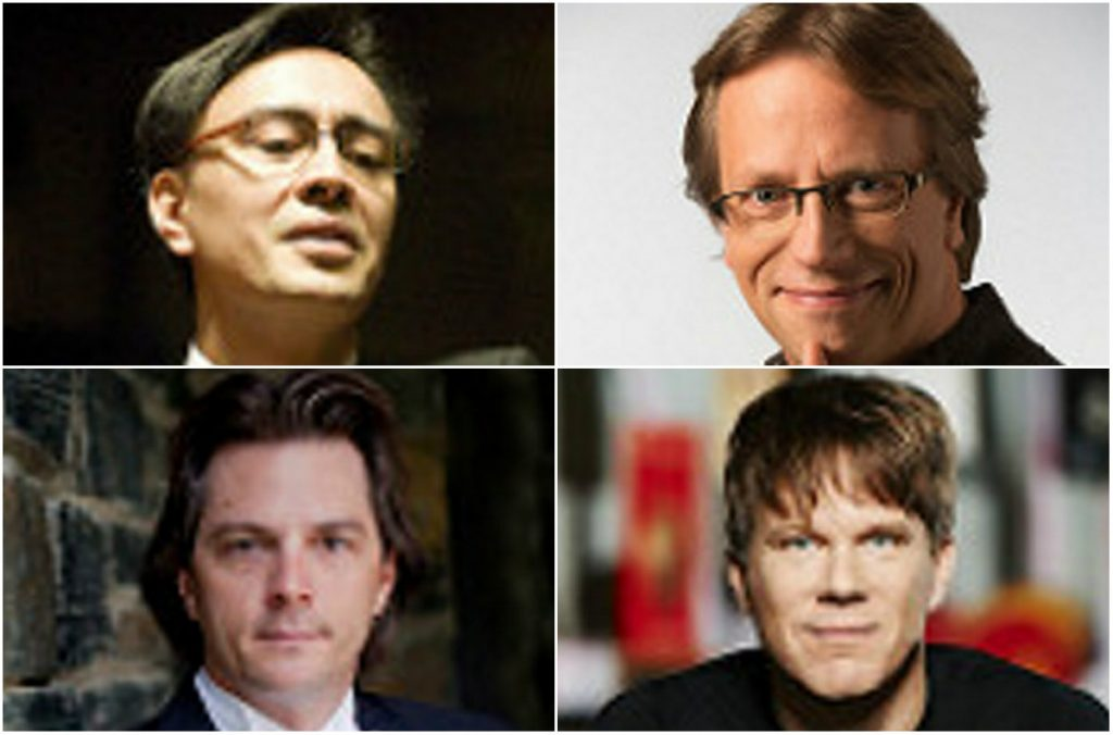Ken-David Masur, top left, Eckart Preu, top right, Alexander Mickelthwate, bottom right, and Daniel Meyer are the finalists to succeed Robert Moody as music director of the Portland Symphony Orchestra.