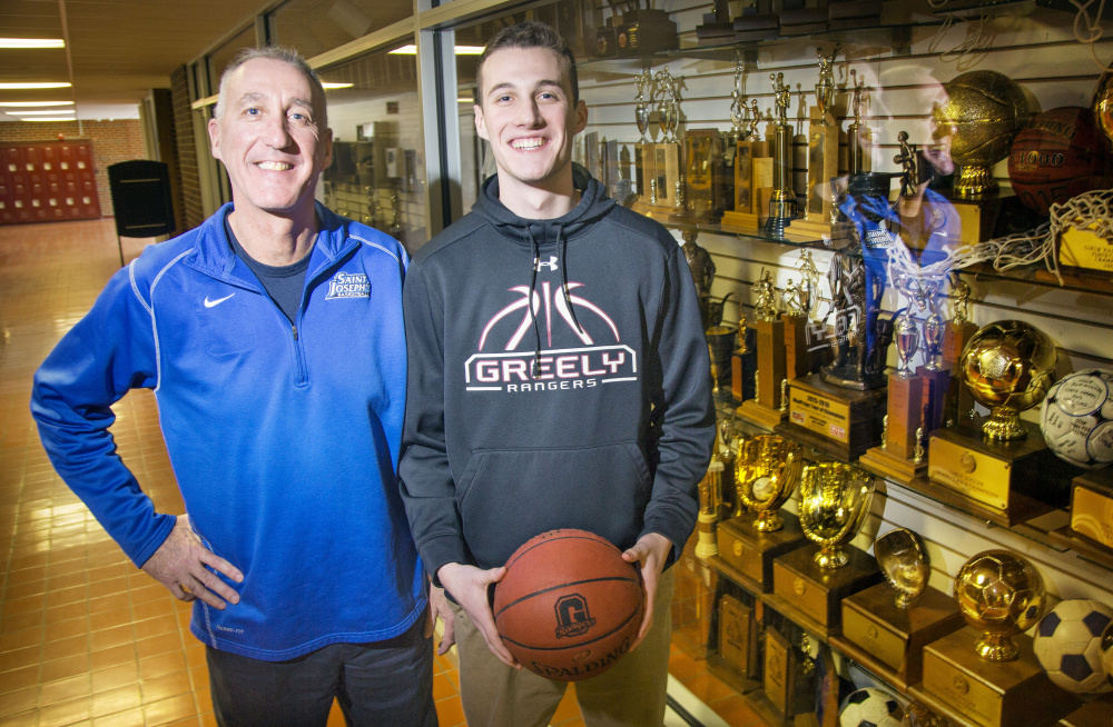 They're no strangers to titles, those McDevitts. Mike McDevitt, left, has 500 wins as a college coach and is leading the St. Joseph's women into the NCAA tournament, and Matt McDevitt is already a Southern Maine champion with Greely, looking to add a state Class A title this weekend.