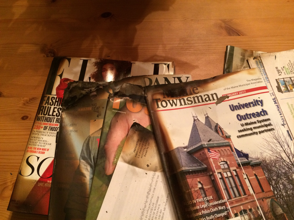 Winthrop residents received singed mail this week after a Feb. 21 fire that destroyed the local post office.