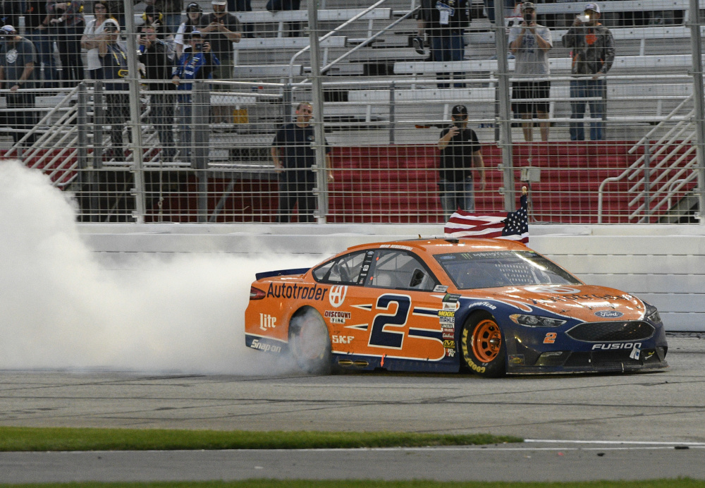 Brad Keselowski overcame a mistake by his crew – which didn't properly fasten lug nuts during a pit stop – to earn his 22nd career NASCAR Cup Series victory, and his first win at Atlanta Motor Speedway.