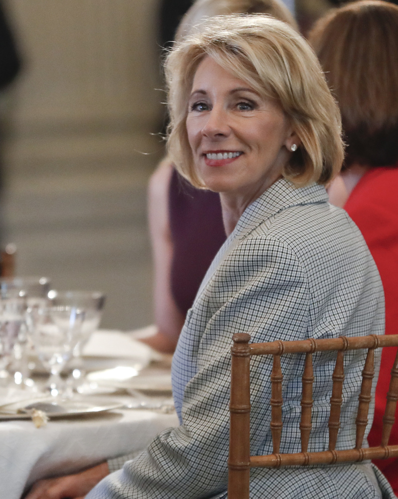 Education Secretary Betsy DeVos has long been a champion of school voucher programs such as the one in Washington, D.C.