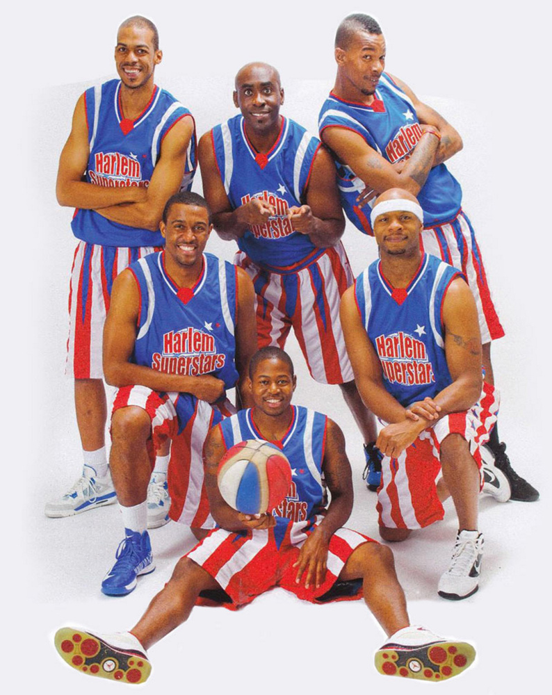 The Harlem Superstars comedy basketball team plays the South Portland All Stars at 6:30 p.m. Tuesday in Beal Gym at South Portland High to raise funds for its class of 2019.