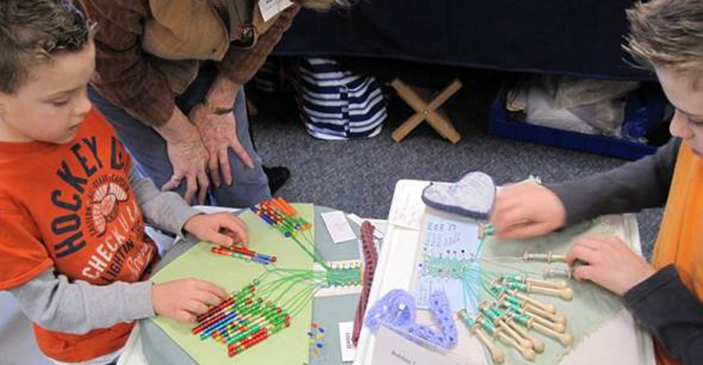 Bobbin lace will be among the many fiber arts activities on Saturday for Textile Day at the Scarborough Public Library.