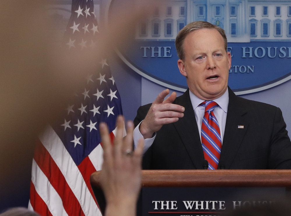 White House press secretary Sean Spicer said at Tuesday's daily briefing that the president believes evidence will vindicate his tweets about wiretaps.