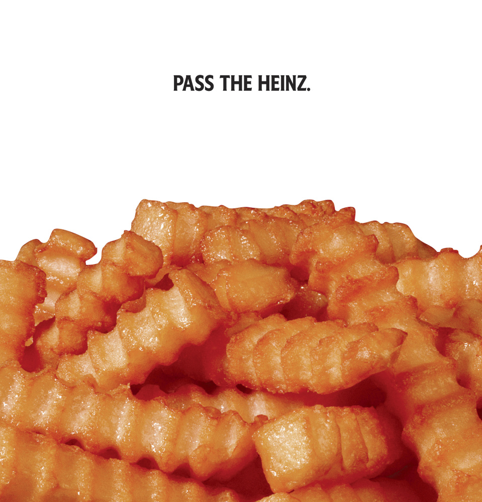This photo shows a Heinz ketchup ad inspired by the TV show