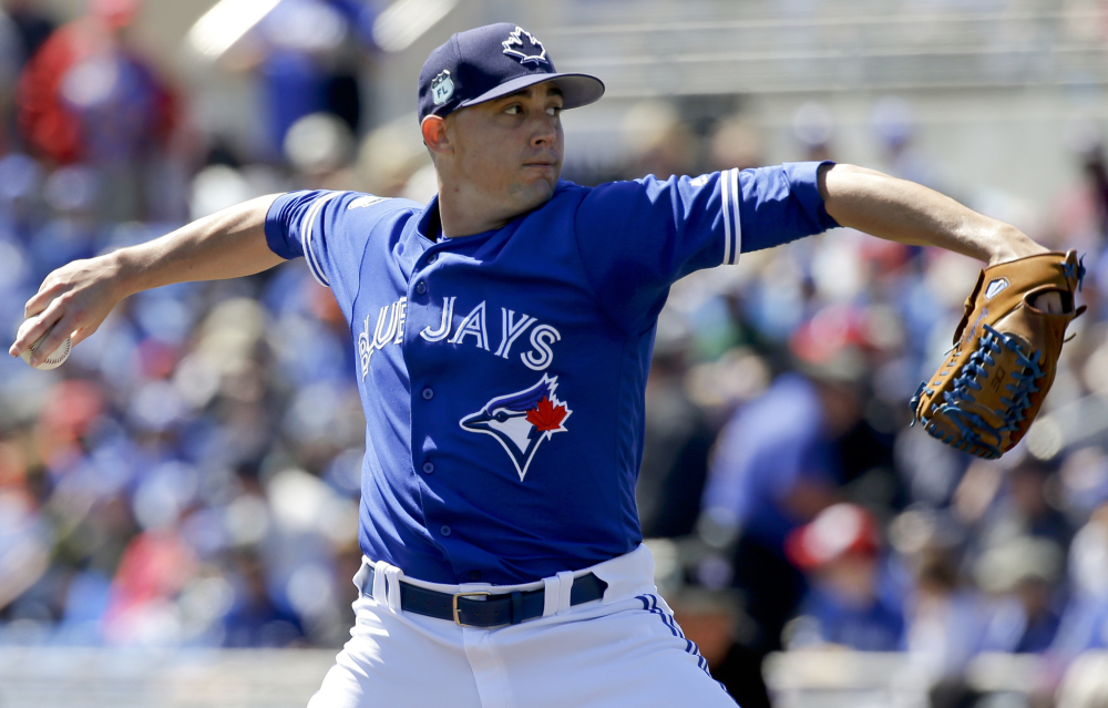 Toronto's Aaron Sanchez will be making the minimum salary of $535,000 this season despite a standout 15-2 year in 2016.