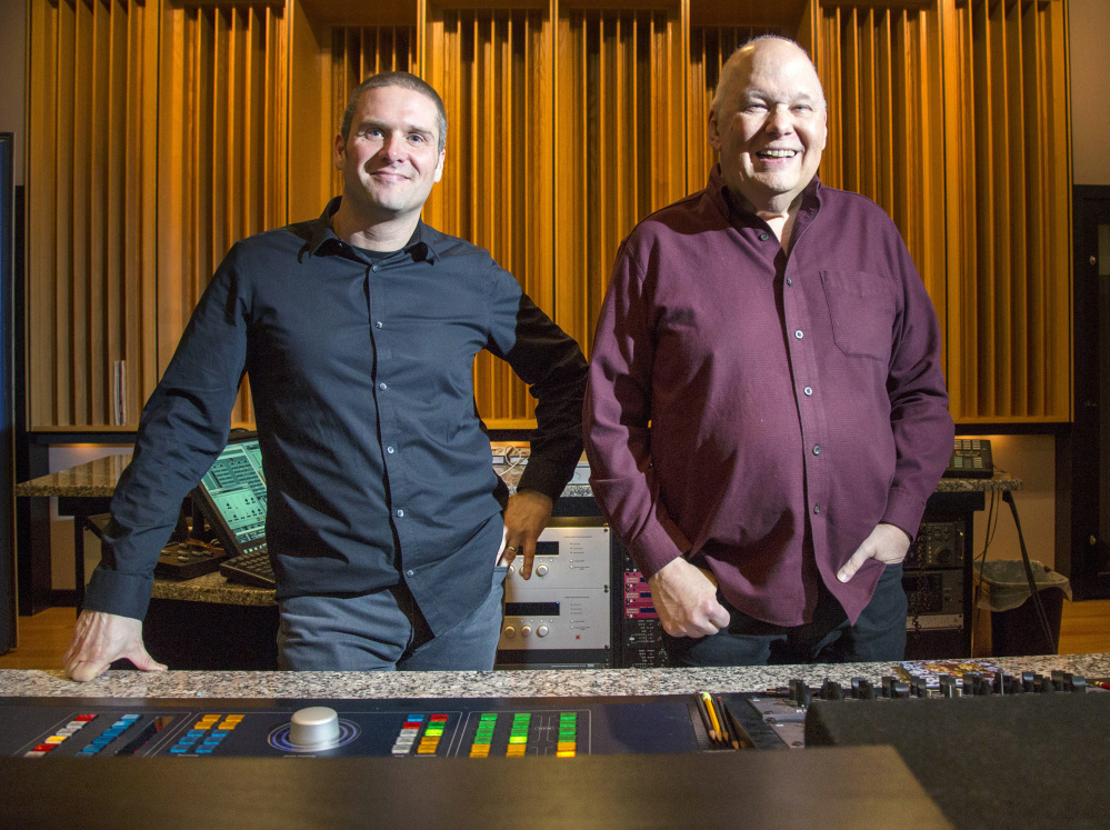 Adam Ayan, left, and Bob Ludwig of Gateway Mastering Studios.