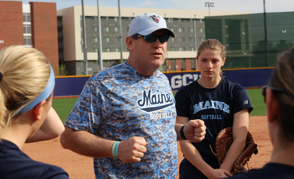 Coach Mike Coutts took his softball team west this spring, relying more on accommodations than cash guarantees. Opponents paid for 13 of the 18 overnights.