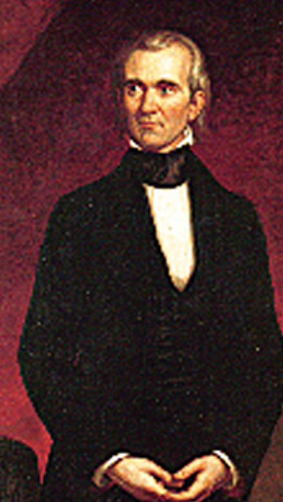 A portrait of President James K. Polk, who served from 1845-1849.