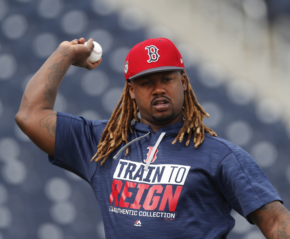 Hanley Ramirez has not played first base this spring, nursing a shoulder injury. Ramirez will primarily be Boston's DH this season with offseason acquisition Mitch Moreland playing first base most of the time.