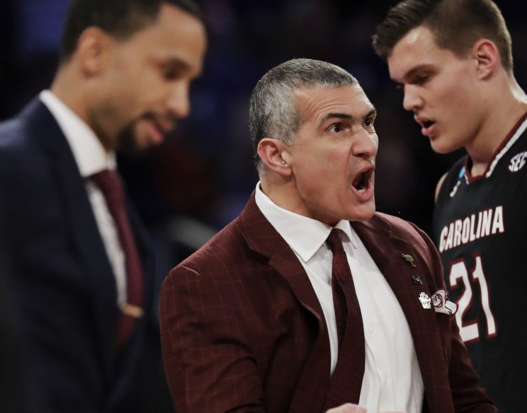 South Carolina Coach Frank Martin has his team two wins away from a national title, and says,