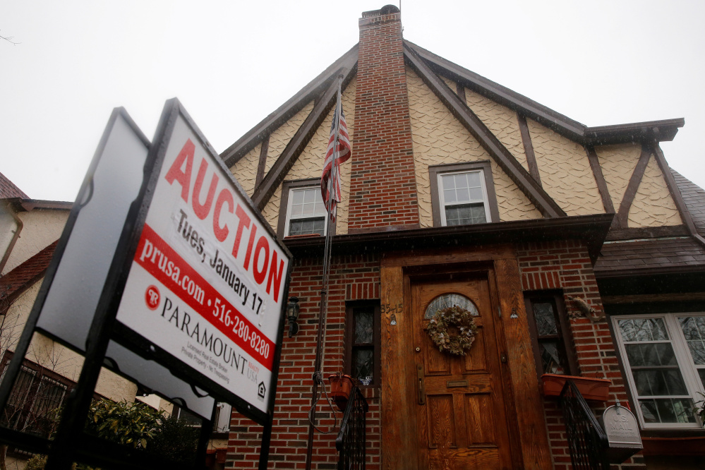 The childhood home of President Trump in January when it was up for auction. Located in Queens, New York, the home's address is listed on his birth certificate.