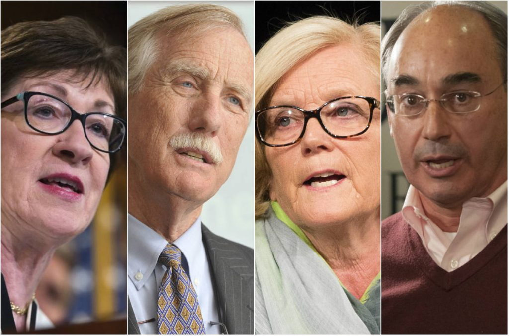From left, Sens. Susan Collins and Angus King, and Reps. Chellie Pingree and Bruce Poliquin.