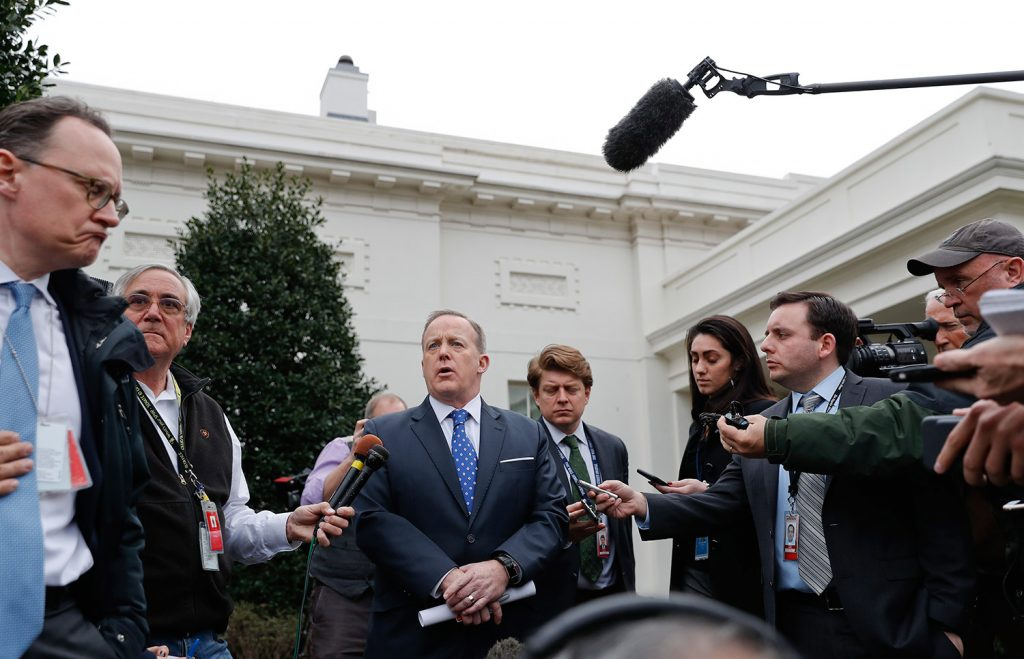 White House press secretary Sean Spicer says President Trump looks forward to working with Congress to repeal and replace Obamacare, but is not weighing in on the merits of the House Republican plan released Monday.