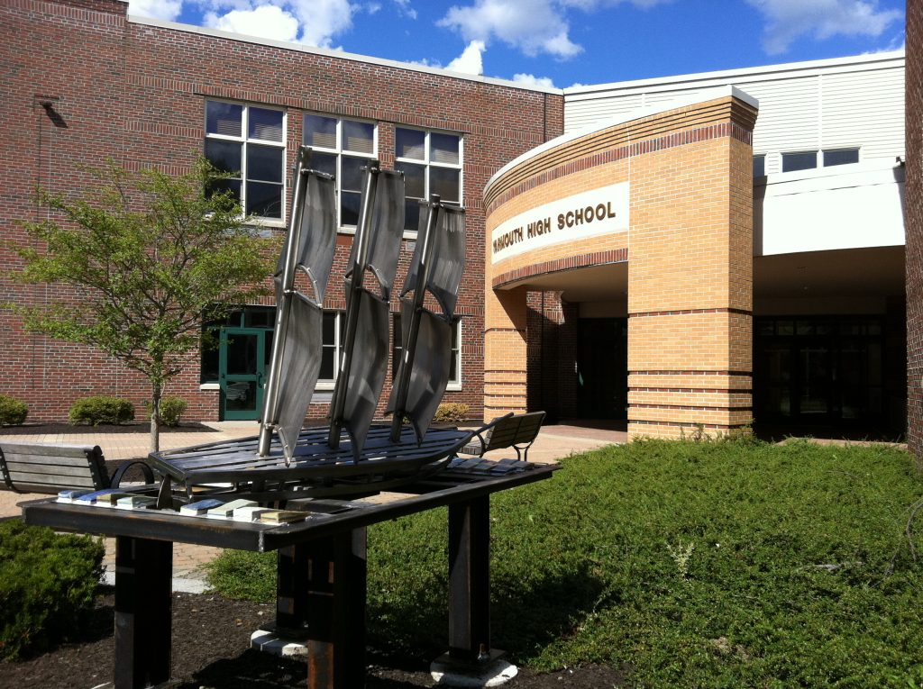 Yarmouth High School led the state for a second straight year in math, while  just 10 percent of the town's students qualified for free or reduced-price meals.