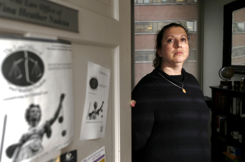 Court-appointed lawyer Tina Nadeau was advising Somali asylum seeker Abdi Ali, 28, at the Portland courthouse Thursday when three immigration officers unexpectedly entered the room to arrest him. The ICE agents handcuffed Ali roughly and led him away, Nadeau said.