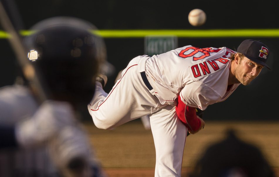 Sea Dogs pitcher Jacob Dahlstrand allowed three runs in five innings as Portland beat Binhamton 8-5 on Monday at Hadlock Field.