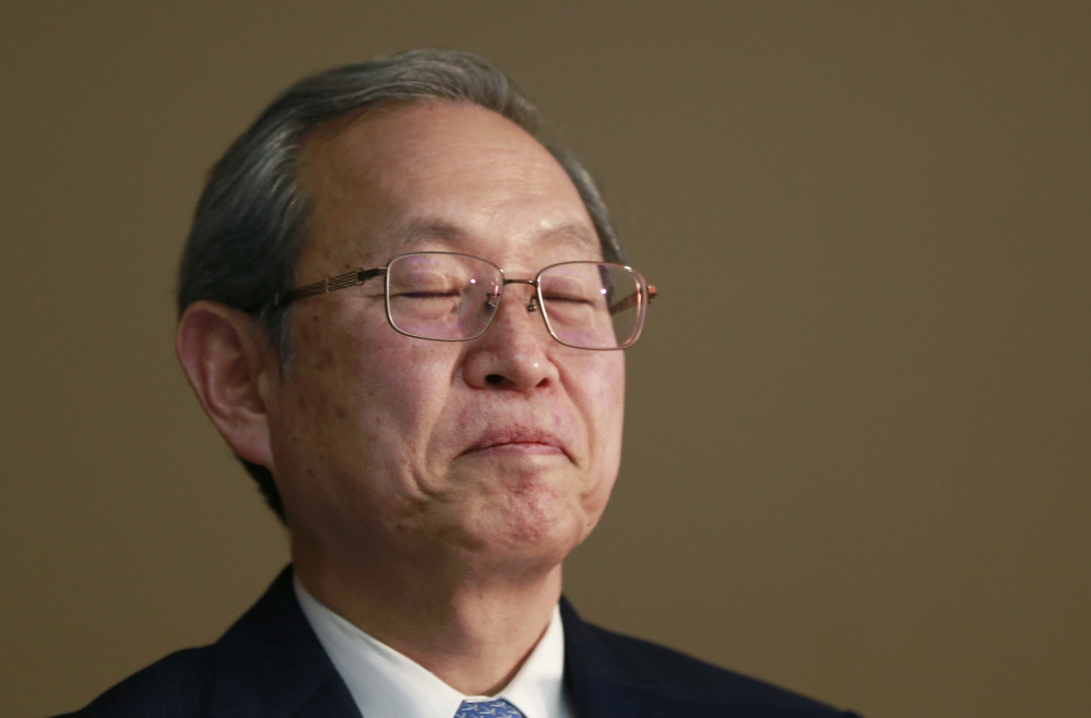 Toshiba Corp. President Satoshi Tsunakawa said Tuesday that heavy losses have forced the company to sell a majority stake in its prized memory chip operations.
