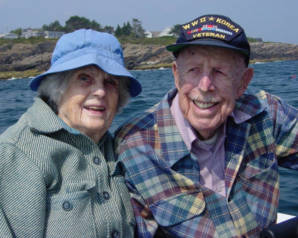 Charlotte and Clifford Sinnett enjoyed spending summers at Bailey Island. They were married for 66 years.
