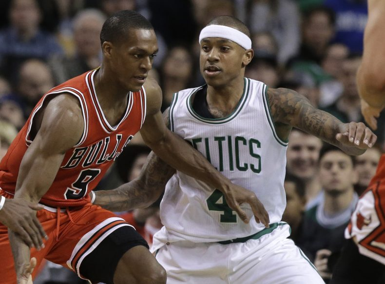 Rajon Rondo, who played most of his career with Boston, is now with Chicago, looking to find a way to get past Isaiah Thomas and the rest of the Celtics in their first-round playoff series.