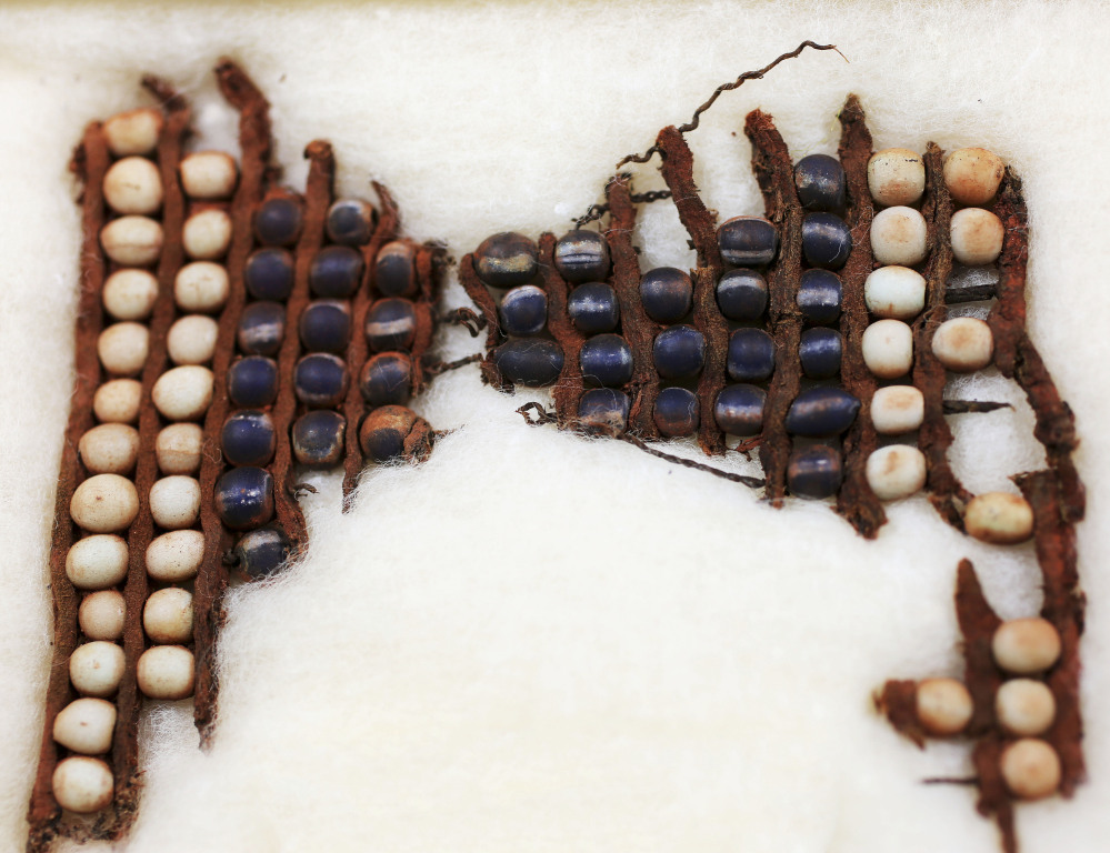 Beads belonging to the Wampanoag leader who signed the first treaty with the Pilgrims in 1621 are among artifacts to be repatriated in May to his original burial site in Rhode Island.