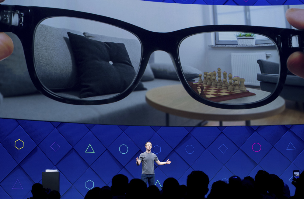 Facebook CEO Mark Zuckerberg speaks at his company's annual F8 developer conference Tuesday in San Jose, Calif.