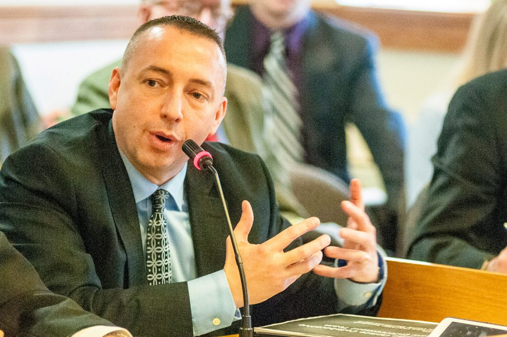 Portland Police Chief Michael Sauschuck spoke at Friday's meeting about Maine police departments' efforts to deal with rising addiction rates.