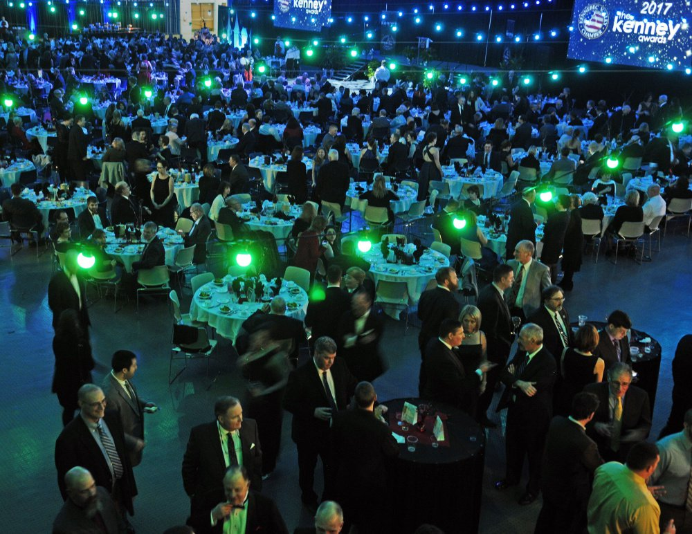Guests fill the main auditorium of the Augusta Civic Center on Jan. 27 for the Kennebec Valley Chamber of Commerce awards. The city-owned convention center and auditorium will likely finish the current fiscal year with a profit of between $40,000 and $50,000, officials say.