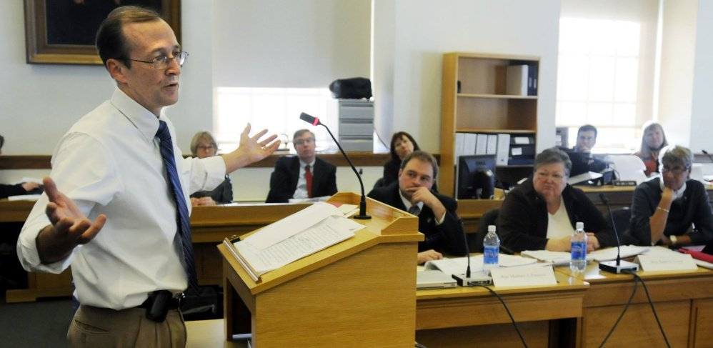 Dr. Erik Steele, shown in this 2009 file photo while testifying in front of a legislative committee, says it's