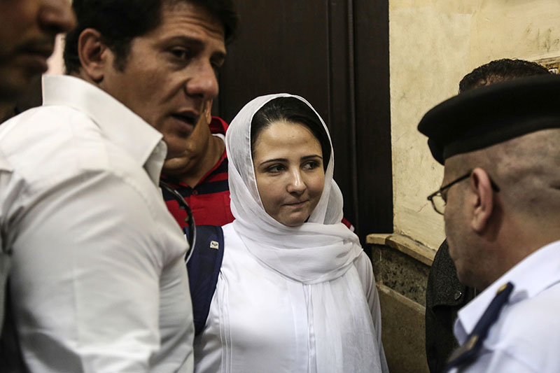 Aya Hijaz acquitted by an Egyptian court  on April 16.