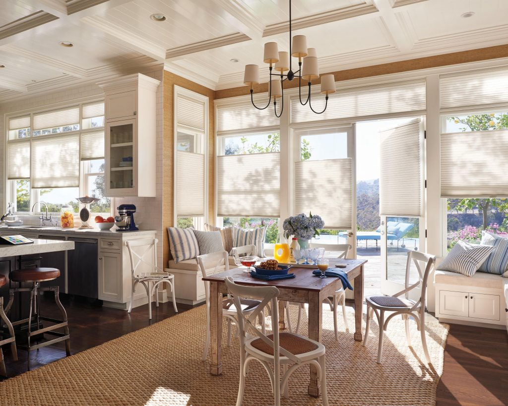 Create scenes – different combinations of shade positions in one room or throughout the house.
